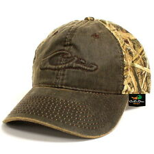 DRAKE WATERFOWL CAMO COTTON HAT LOGO BALL CAP WAX FRONT SHADOW GRASS BLADES CAMO