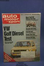 AMS Auto Motor Sport 25/76 VW Golf Diesel Audi 100 Fiat 128 2 CV6