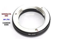 MD - EOS  Minolta MD Objektiv Lens  Adapter  an --To  Canon EOS Kamera EF Mount