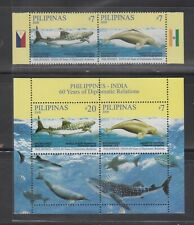 Philippine Stamps 2009 Shark Whales & Dolphin (Phil-India Joint Issue) Complete