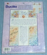 Bucilla Plaid # 42760  Footprints  Counted Cross Stitch Kit  Spiritual  2001 New