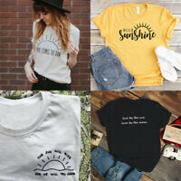 Hello Sunshine T-shirt Here Comes The Sun Tee Sunlight Tops Funny Shirts Present