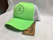 NWT Yolo Brand  Snapback Adjustable Cap Hat Yolo Board Company Neon Green/white