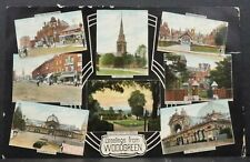 Postcard Wood Green London Multi View Card Stamp & Postmark 1907