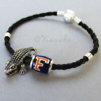 University Of Florida Football Team Bead N Florida Gators Mascot Charm Bracelet