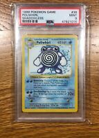 1999 POKEMON BASE SET SHADOWLESS POLIWHIRL PSA 9 38/82 WOTC FREE SHIP