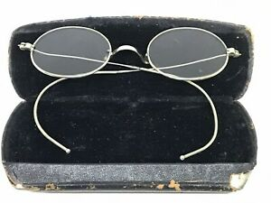 Vintage AO American Optical Ful Vue AO  Glasses Silver Tone Steampunk