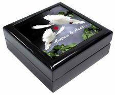 Doves Personalised (Any Name) Keepsake/Jewel Box Valentines Gift, AB-D7JB