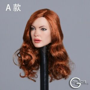 GACTOYS 1/6 GC031A European Head Sculpt Rooted Curly F 12'' Female Action Figure