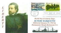 PERE MARQUETTE Liberty Ship named: Explorer of Michigan, Wisconsin First Day PM