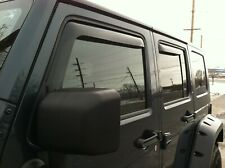 Jeep Wrangler JK 2007 - 2017 Wind deflectors In-Channel