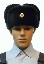 Genuine MANY SIZES Russian Police Officer Fur Hat Cap Uniform Original Rare 100%