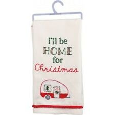 I'll Be Home For Christmas Dish Towel 18 by 26in, Christmas Kitchen Country  New
