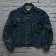 Vintage 70s Levis Type 3 Denim Trucker Jacket Size 40 L 71205-0217 Made in USA