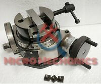 "Tilting Rotary Table 4"" / 100 mm Tilts 90 Degree + 80mm Round Vice"