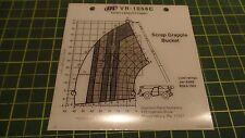 INGERSOLL RAND SCRAP GRAPPLE BUCKET VR-1056C CAPACITY CHART 13345286, 13 345 285