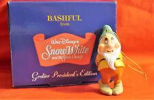 GROLIER DISNEY CHRISTMAS ORNAMENT BASHFUL WITH JEWEL SNOW WHITE NIB