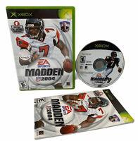 Madden NFL 2004 - Original Xbox Game - Complete W/ Manual CIB Free Shipp