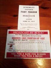 Boxing Joe Louis v James J Braddock 1937 programme