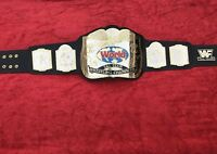 WWF TAG TEAM DUAL CHAMPIONSHIP BELT IN 4MM BRASS PLATES FREE SHIPPING D H L !