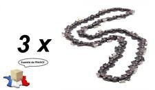 Lot de 3 chaînes 40 maillons pour tronçonneuse élagueuse 3/8 1.3mm 40 maillons