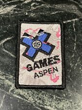 """New listing X Games Aspen CO Extreme Action Sports Logo Patch Rare Ski Snowboard 3"""" Iron On"""