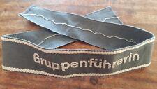 1933-1945 DRK Ärmelband GRUPPENFÜHRERIN 2. Weltkrieg Armbinde WK2 Armband WW2 !