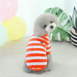 Pet Puppy Cat Dog Fleece Coat T-shirt Warm Jacket Vest Pet Dog Clothes Apparel//