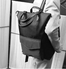 Stylish Black Large Capacity Backpack Pure Color Preppy Style Women Shoulder Bag