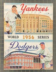 Vintage 1956 World Series Program Brooklyn Dodgers vs Yankees Scored in Pencil