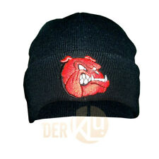 Red Bulldog Mütze Watchcap Red Dog cap Englische Bulldogge Stick Pit Bull