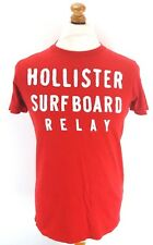 HOLLISTER Mens T Shirt Top S Small Red Cotton