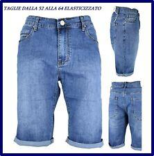 bermuda da uomo jeans taglie forti pantaloncini pantaloni corti 56 58 60 62 64 a