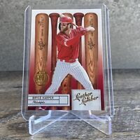 BRYCE HARPER SP GOLD PROOF EMBOSSED 2019 Panini Leather And Lumber No. 98 Bats