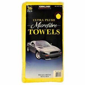Kirkland Signature Ultra Soft Plush Microfibre Towels Cloths 40cm x 40cm,36 Pce.