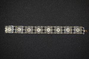 Silber-Armband aus feinem Silberdraht, Silber 800, 20cm sehr guter Zustand,