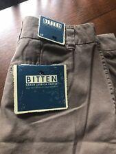 NWT Bitten by SJP flat front chino khaki knee length shorts 10