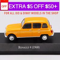 1/43 IXO RENAULT 4 (1968) Die Cast Car Model Rare Collection Khaki