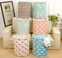 Cartoon Baby Kid Toys Storage Canvas Bags Bear Laundry Basket Drawstring Bags
