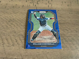 2021 Panini Prizm Blue #105 William Contreras Rookie Atlanta Braves #'d 044/199