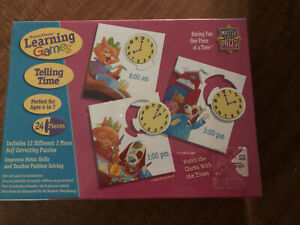 Master Pieces Learning Games - Telling Time Puzzle NEW SEALED Homeschool