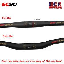 EC90 Riser/Flat Bar 31.8/25.4mm Carbon Fiber MTB Bike Handlebars Superlight