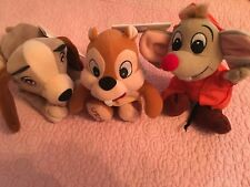 DISNEY STORE MINI BEAN BAGS ASSORTED CHARACTERS LADY, CHIP AND JAC THE MOUSE NWT