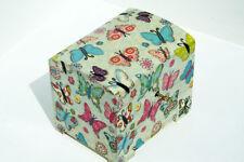 Wood handmade hinged lockable medium trinket chest box decoupage Butterfly