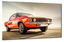Leinwand Bild Opel Manta Stingray Stachelrochen Rot Wandbild Design Oldtimer Art