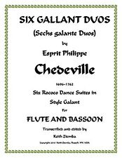 Flute & Bassoon Duets 6 Gallant Duos - Chedeville   6 Dance Suites of Duets NEW
