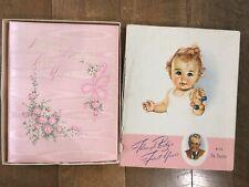 Vintage Baby Girl Book First Years Dr Dafoe Keepsake Record Unused Pink W Box