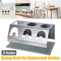 Stainless Steel Cup Bottle Holder Drainer Drying Rack For Soda Stream Bottles AU