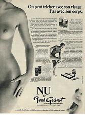 PUBLICITE ADVERTISING 014   1977   RENE GUINOT  cosmétiques NU