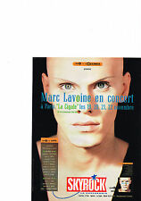PUBLICITE ADVERTISING  1987 SKYROCK  radio MARC LAVOINE en concert à la Cigale